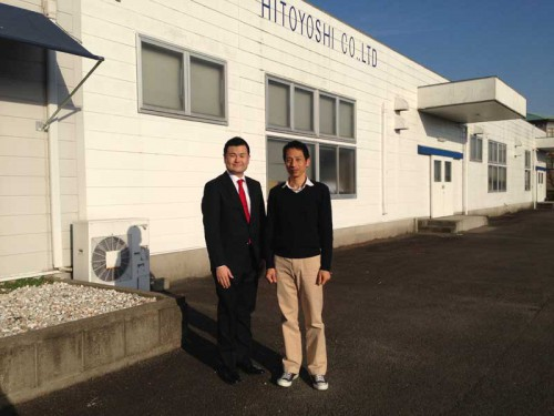 熊本県人吉市のシャツメーカー「HITOYOSHI」を訪問する、かわの義博