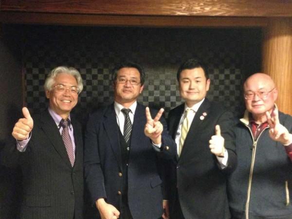 丸紅時代にお世話になった児島さん、田中さんと再会 かわの義博