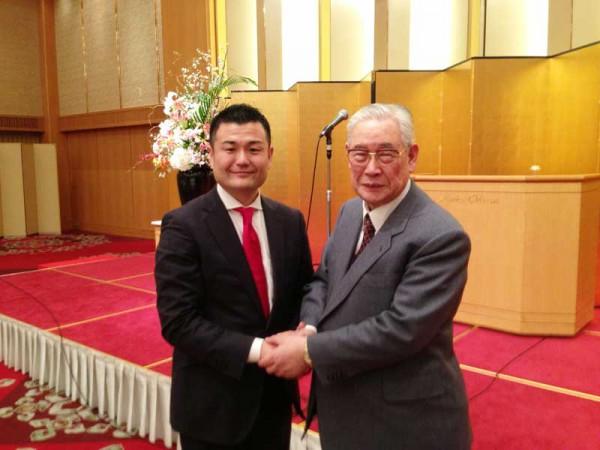 政治評論家の森田実先生とともに かわの義博