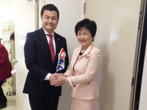 党女性委員会副委員長(衆議院議員)の高木美智代さんとかわの義博