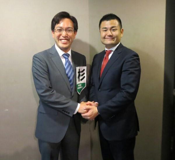 大阪選挙区予定候補の杉ひさたけさんとかわの義博