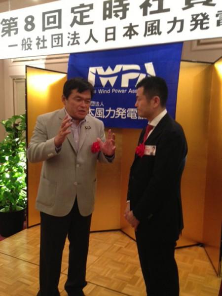 慶應OB、商社出身という共通点を持つ赤羽経産副大臣とかわの義博