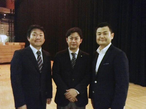 山下雄平参議院議員、福岡資麿参議院議員、かわの義博