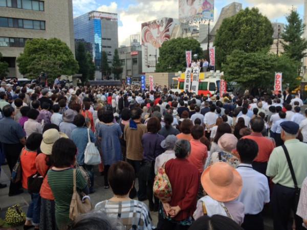 かわの義博、熊本市辛島公園での街頭演説会