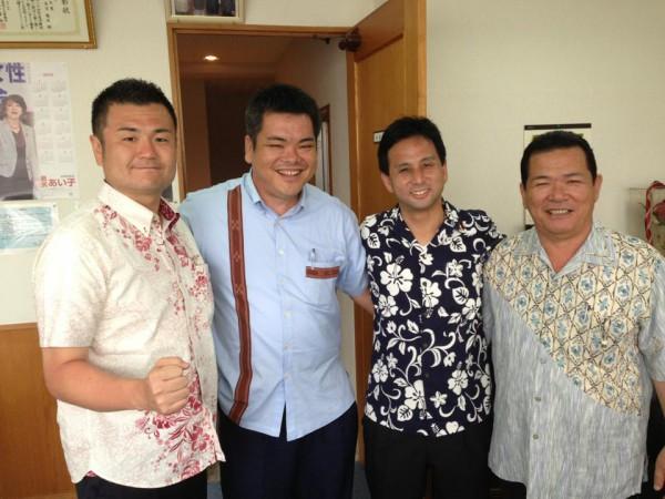 株式会社丸憲へ。 代表取締役 末吉社長と弟さんの雅己さん、かわの義博