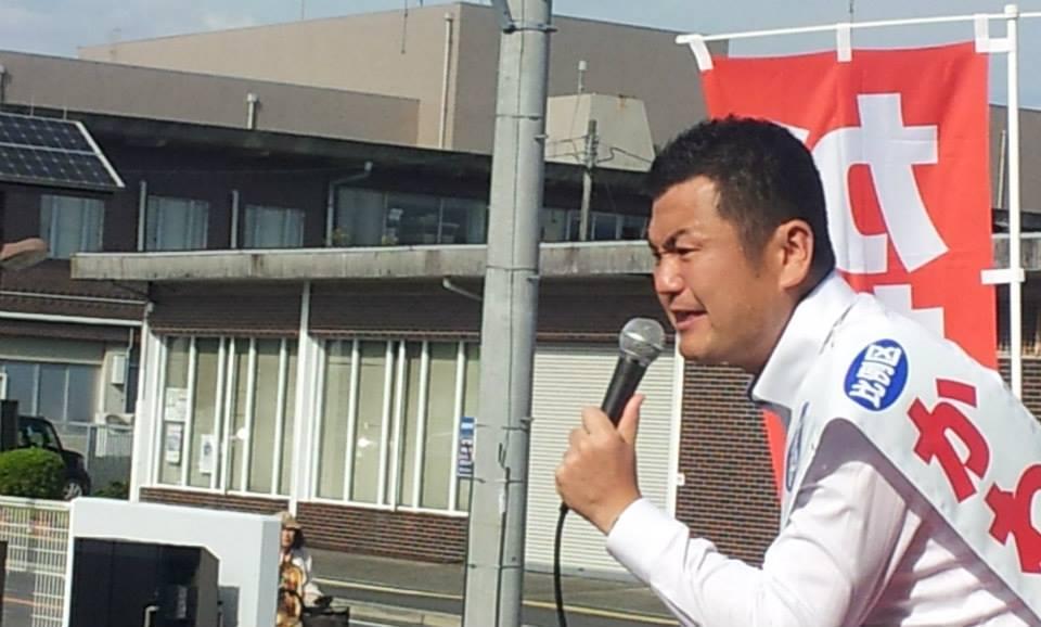 かわの義博、朝倉市での街頭演説