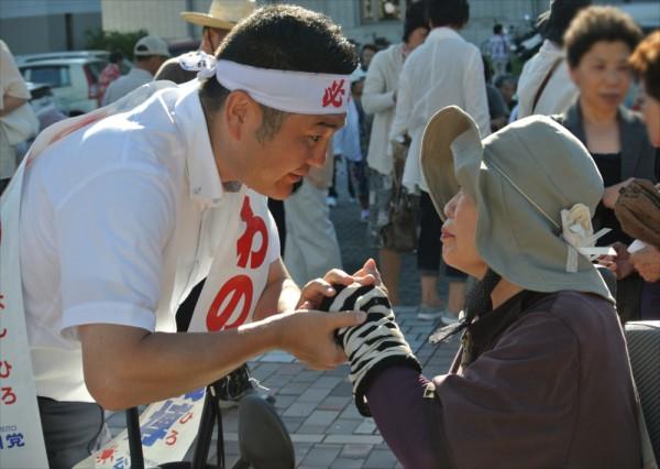 かわの義博、唐津市での街頭演説