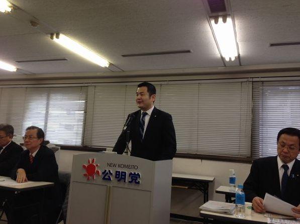 福岡の政治学習会で国政報告