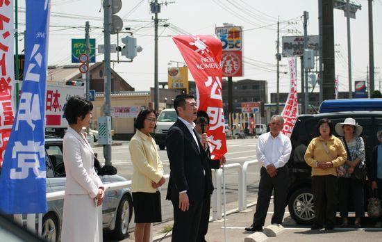 街頭演説にて(佐賀)