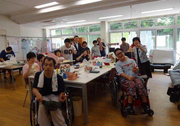 障がい者共同作業所を訪問(福岡県福津市)