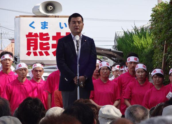 柳川市議会議員選挙・熊井候補の応援に駆けつけました