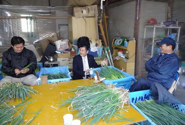 福岡県糸島市の農家を視察