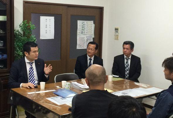 福岡県桂川町商工会青年部の皆様と懇談会