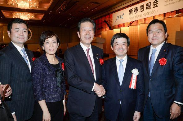 日本貿易会の新春懇親会にて