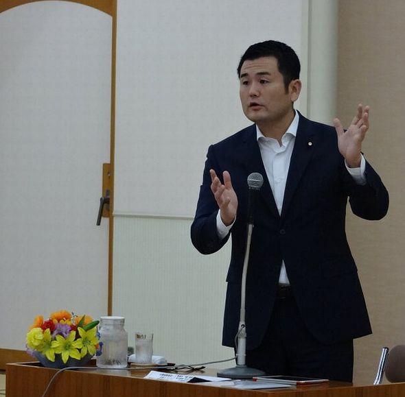 筑豊田川地区にて国政報告