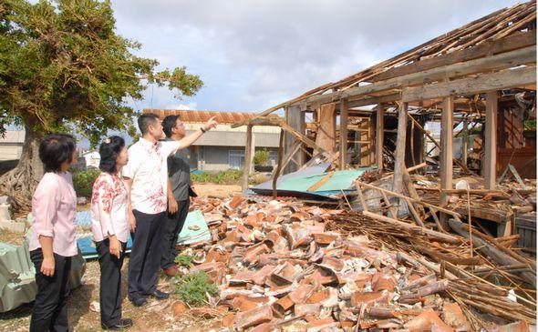 与那国島の被害状況視察