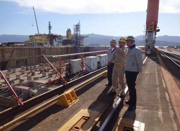 名村造船所を訪問
