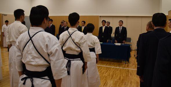 参院警務部の剣道始式