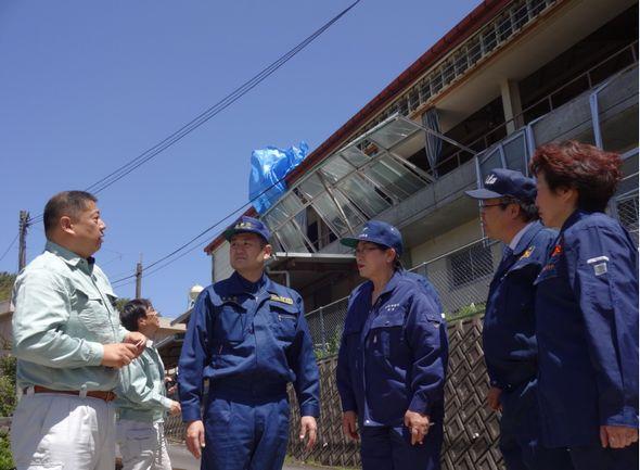 被災した大分県由布市の阿南小学校