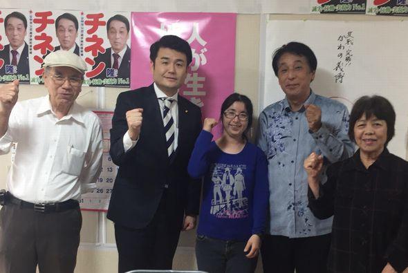 チネン隆選挙事務所にて