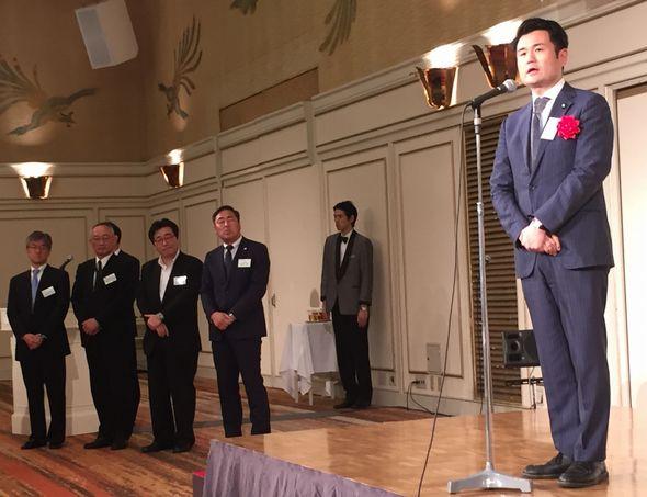 日本風力発電協会の総会でごあいさつ