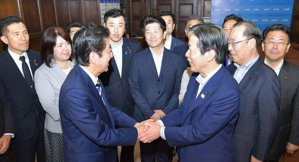 安倍首相の表敬