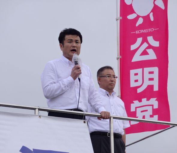 終戦記念日街頭演説