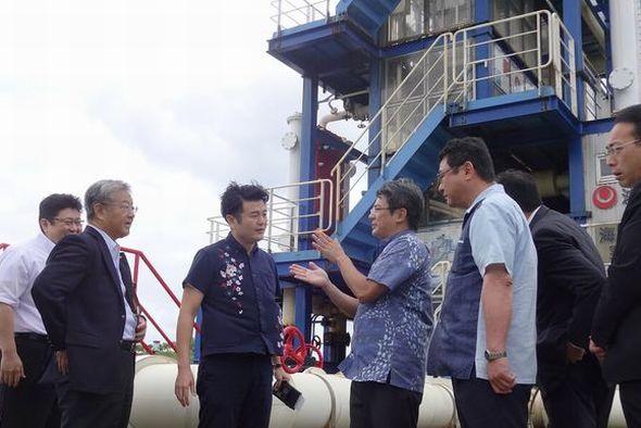 沖縄県海洋深層水研究所を訪問