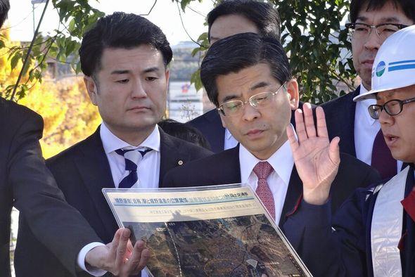 九州新幹線西九州ルートの整備状況を視察