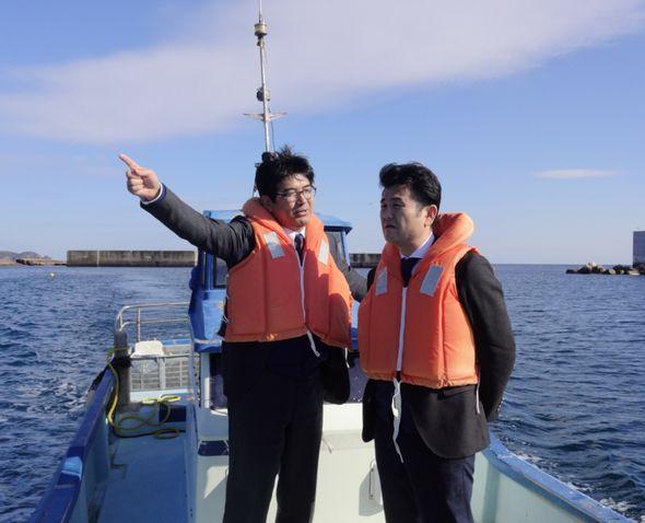 黒田市議と対馬市内の漁協を訪問