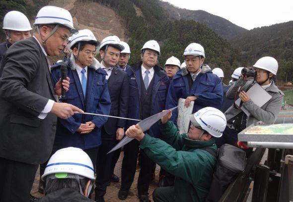 熊本地震の復興状況を視察