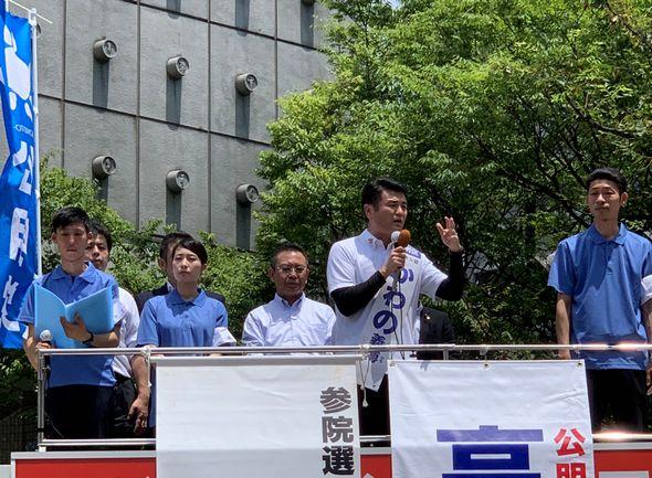 長崎で高木国対委員長と共に街頭演説