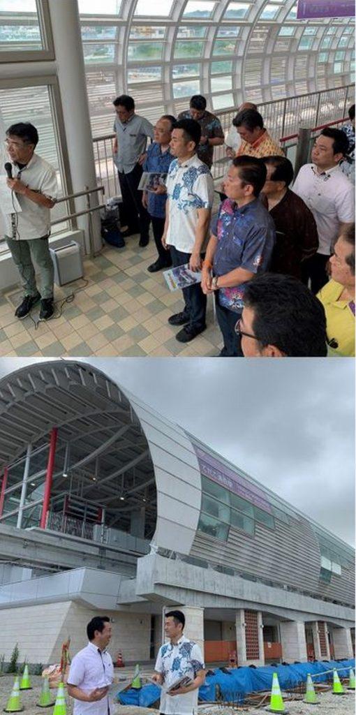 新駅の工事現場を視察