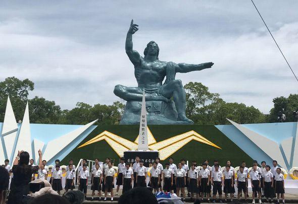 長崎平和祈念式典の模様