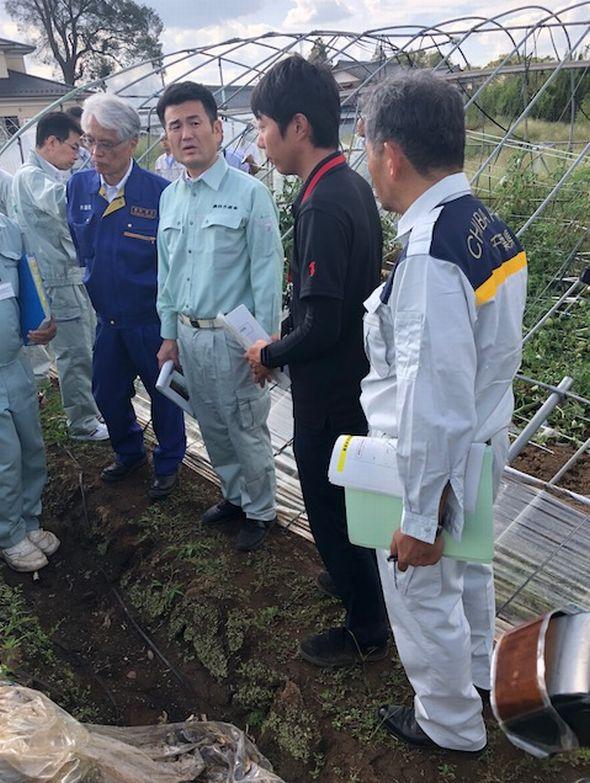 台風15号の被害を調査